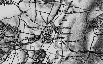 Old map of Potton in 1896