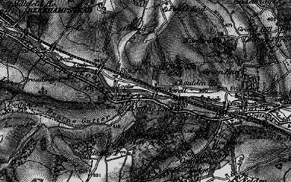 Old map of Pouchen End in 1896