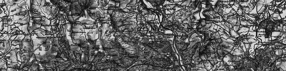 Old map of Withybed Wood in 1899