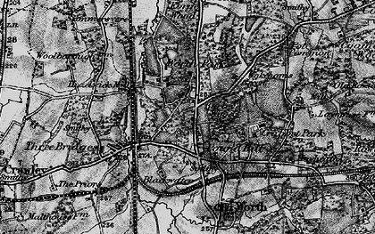 Old map of Pound Hill in 1895