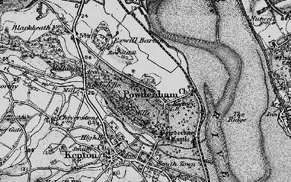 Old map of Powderham in 1898