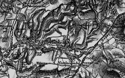 Old map of Whetley in 1898