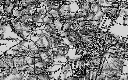 Old map of Lindow Common in 1896