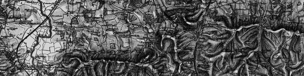 Old map of Poynings in 1895