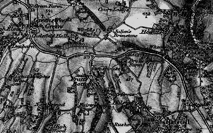 Old map of Pratt's Bottom in 1895