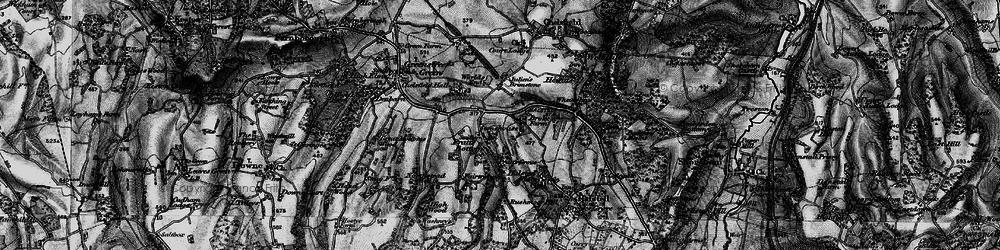 Old map of Pratt's Bottom in 1895