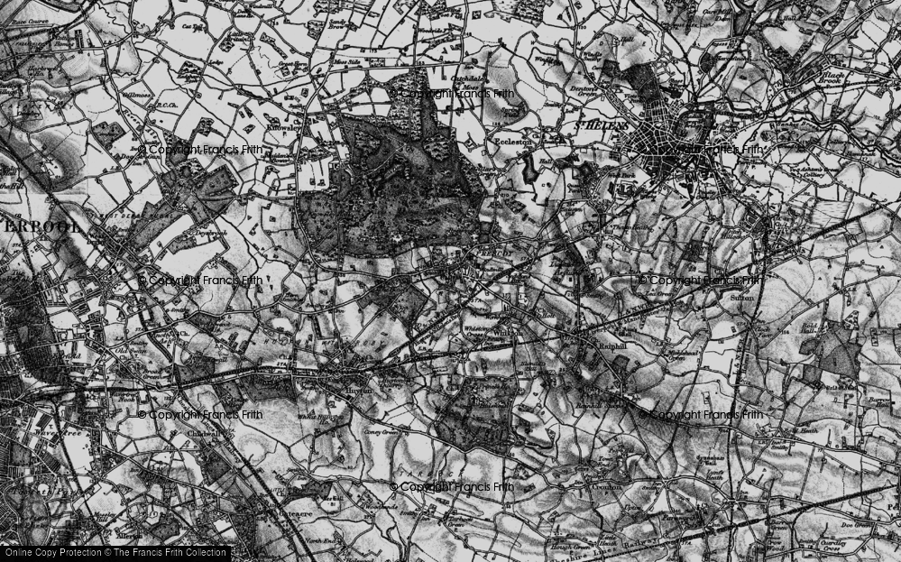 Old Map of Prescot, 1896 in 1896