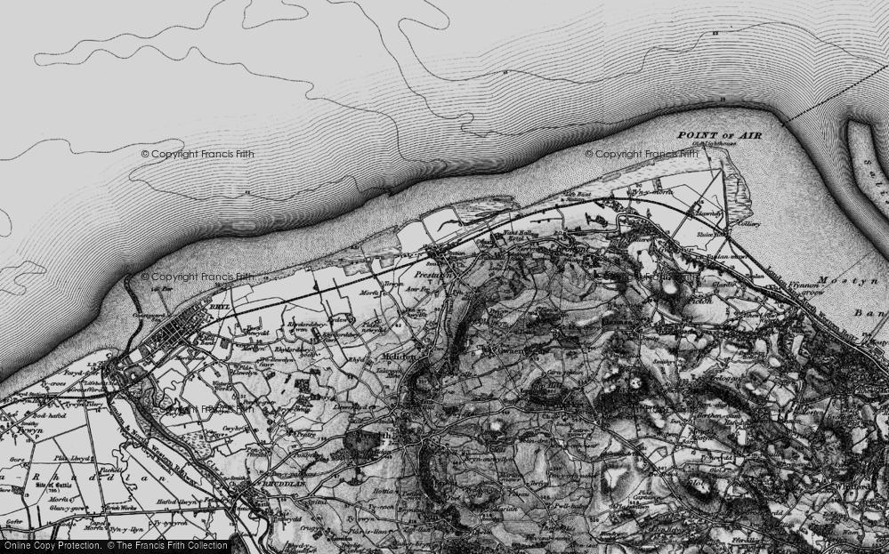 Old Map of Prestatyn, 1898 in 1898