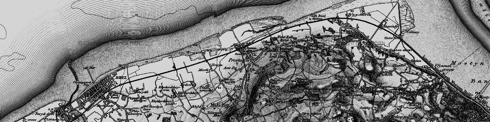 Old map of Prestatyn in 1898