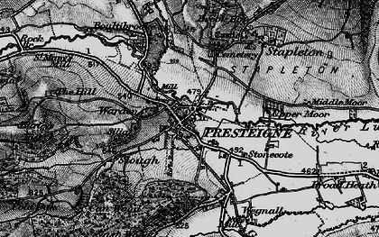 Old map of Presteigne in 1899