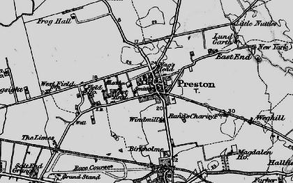 Old map of Preston in 1895
