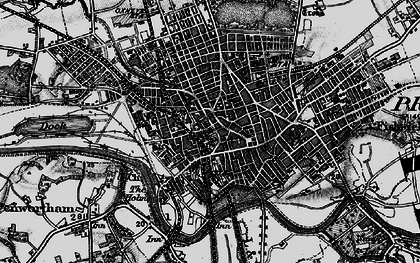 Old map of Preston in 1896