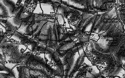 Old map of Preston in 1896