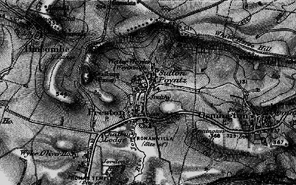 Old map of White Horse Hill in 1897