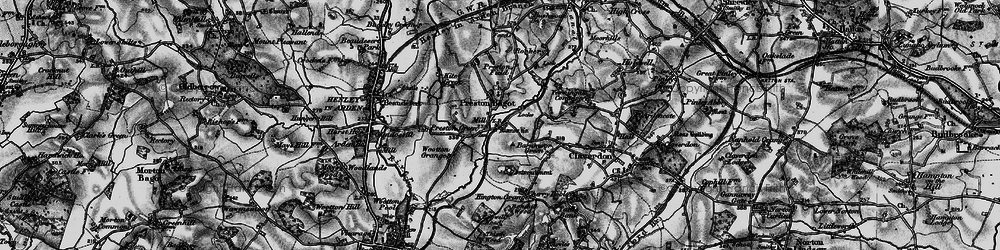 Old map of Preston Bagot in 1898