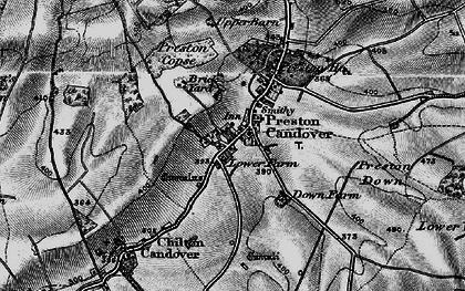 Old map of Preston Candover in 1895