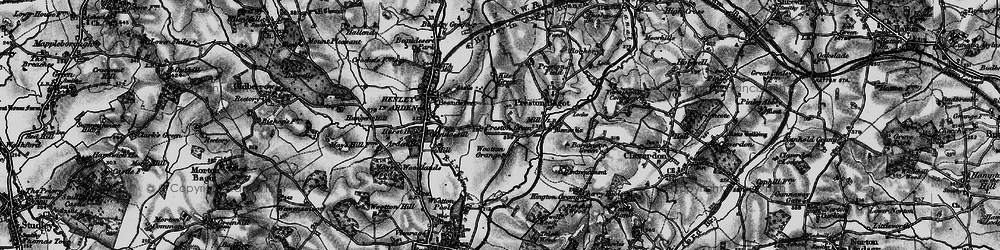 Old map of Wootton Grange in 1898