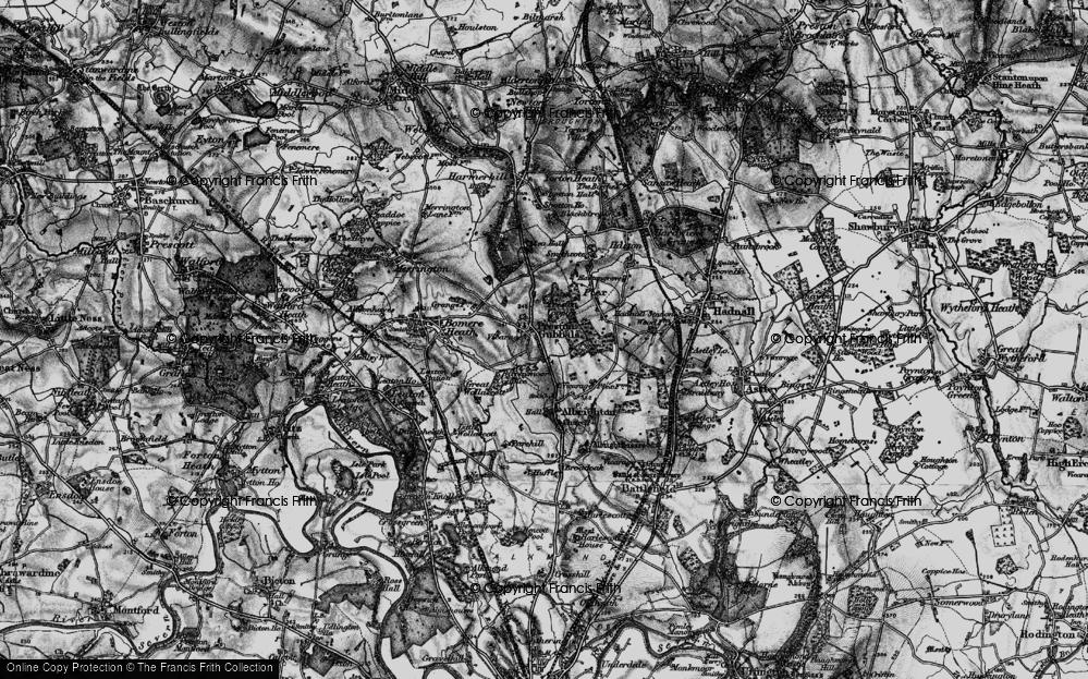 Old Map of Preston Gubbals, 1899 in 1899