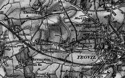 Old map of Preston Plucknett in 1898