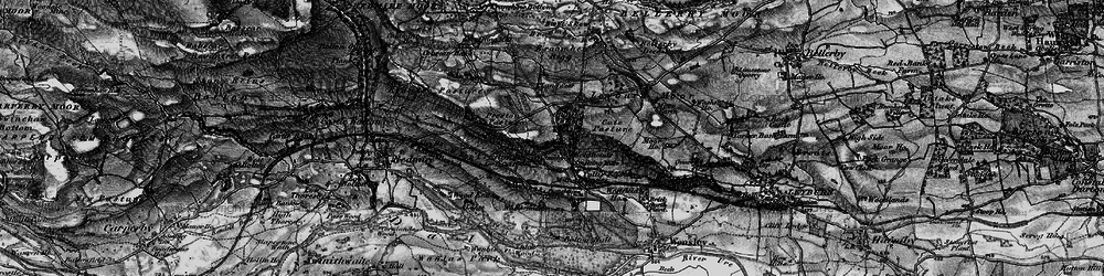 Old map of Lang Scar in 1897