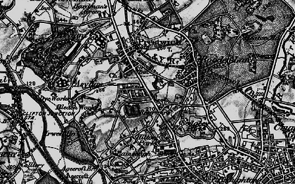 Old map of Prestwich in 1896