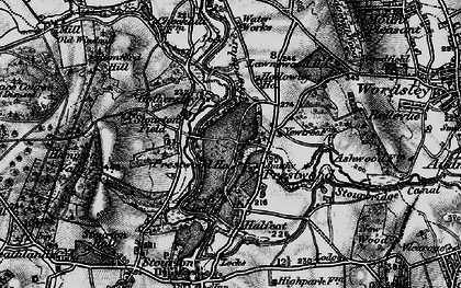 Old map of Lawns Wood in 1899