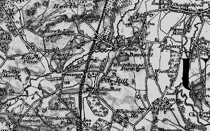 Old map of Worplesdon Sta in 1896