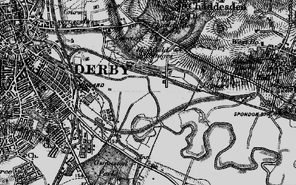 Old map of Pride Park in 1895