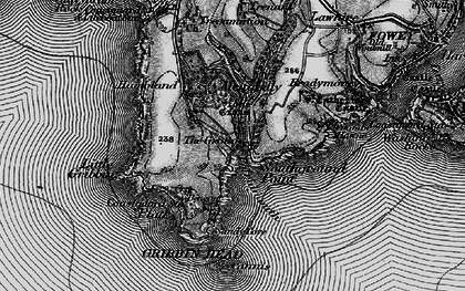 Old map of Pridmouth in 1895