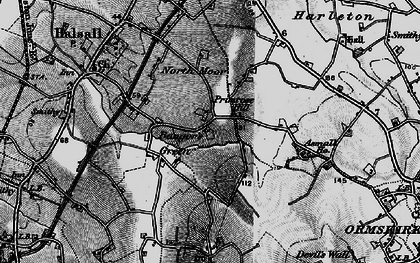 Old map of Asmall Ho in 1896