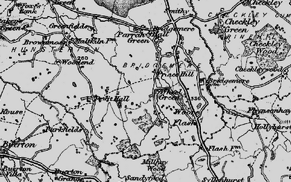 Old map of Admirals Gorse in 1897