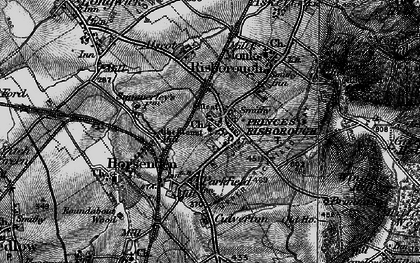 Old map of Princes Risborough in 1895