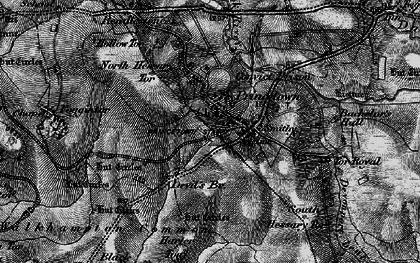 Old map of Leeden Tor in 1898