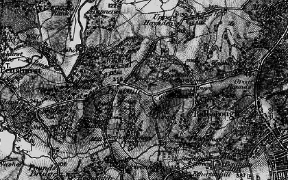 Old map of Ashour Wood in 1895