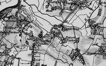 Old map of Leigh End in 1896