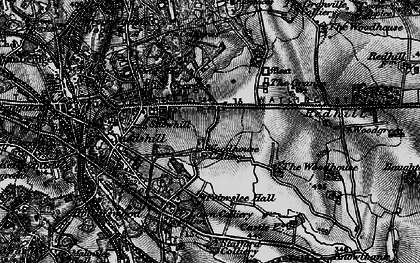 Old map of Priorslee in 1897