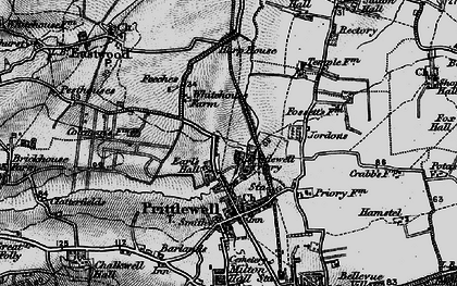 Old map of Prittlewell in 1896