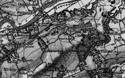 Old map of Prudhoe in 1898