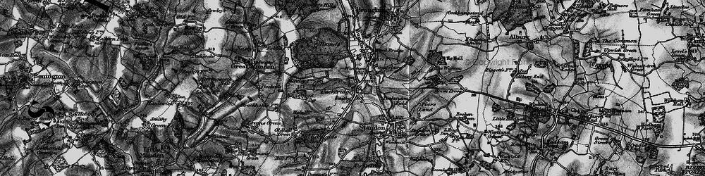 Old map of Puckeridge in 1896