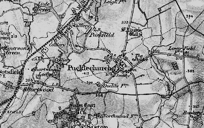 Old map of Pucklechurch in 1898