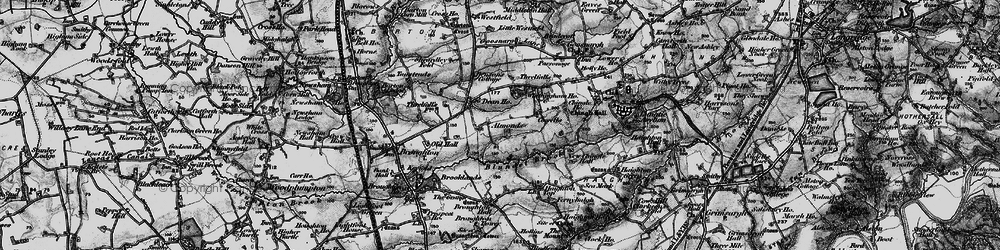 Old map of Whittingham Ho in 1896