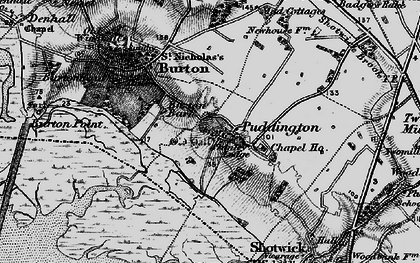 Old map of Puddington in 1896