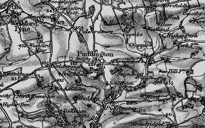 Old map of Yowlestone Ho in 1898