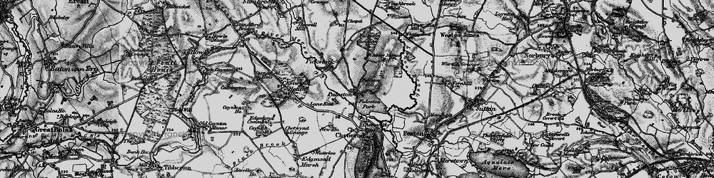 Old map of Whitleyford Br in 1897