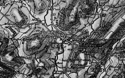 Old map of Ynysau in 1898