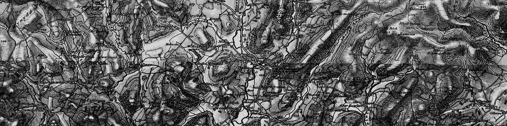 Old map of Ynysau in 1898