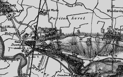 Old map of Puriton in 1898
