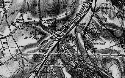 Old map of Purley in 1895