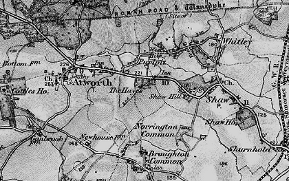 Old map of Atworth in 1898