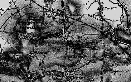 Old map of Purton in 1896